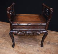 Antique Chinese Stool Hand Carved Piano Circa 1880 (3 of 10)