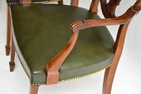Pair of Antique Mahogany Shield Back Carver Armchairs (6 of 9)