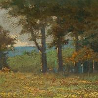 Early 20th Century German School Impressionistic Landscape with Cart (5 of 10)