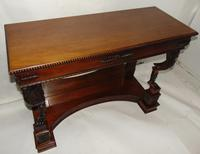 Empire Style Carved Mahogany Console Table (9 of 11)