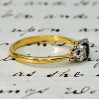 The Vintage Sapphire & Two Diamond Ring (3 of 4)