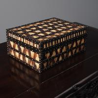 Anglo-Indian Ebony & Porcupine Quill Jewellery Box (2 of 12)