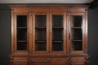 Large French Oak Breakfront Bookcase (4 of 19)