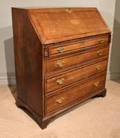 George III Oak Bureau with Fitted Interior (7 of 8)