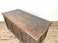 Antique 18th Century Carved Oak Coffer (7 of 10)