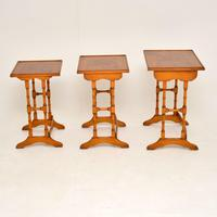 Antique Georgian Style Yew Wood Nest of Tables (2 of 7)
