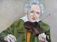 Oil on Canvas The Violinist Artist David Vivien 1970s (8 of 10)