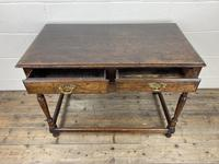 Antique Oak Two Drawer Side Table (11 of 14)