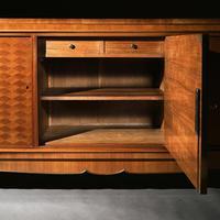 Jules Leleu, French Art Deco Walnut Parquetry Buffet Sideboard Signed Jules Leleu (6 of 11)