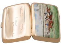 9ct Rose Gold & Enamel Cigarette Case - Antique Edwardian (5 of 12)