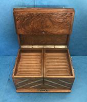 Victorian Brassbound Walnut Cigar Box (5 of 19)