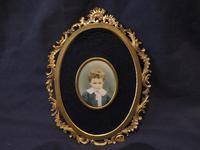 Miniature Portrait Little Boy Allan Pertwee by Mabel Jones 1895 (5 of 5)