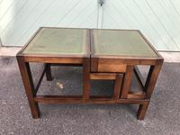Mahogany & Leather Metamorphic Library Steps (7 of 10)