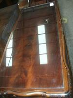 Glass Topped Mahogany Coffee Table (2 of 3)