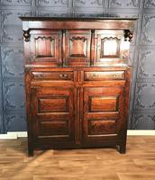 Stunning Period Welsh Oak Cwpwrdd Deuddarn c1720