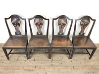 Set of Four Welsh Oak Farmhouse Chairs (2 of 10)