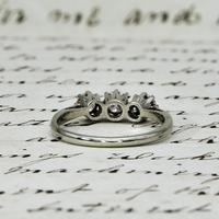 The Antique Old European Cut Three Diamond Ring (6 of 6)