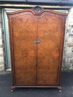 Antique Burr Walnut Double Wardrobe  x