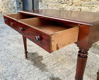 Antique Victorian Mahogany Two Drawer Side Table (6 of 20)