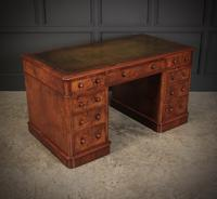 Exceptional Victorian Figured Walnut Desk (2 of 18)