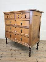 Antique Oak Geometric Chest of Drawers (6 of 9)
