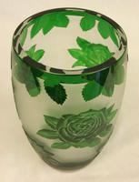 Green Glass Cameo Vase (3 of 5)