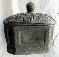 Antique English Georgian Lead Tobacco Box (3 of 8)
