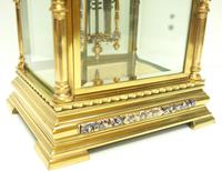 Awesome Antique French Champlevé Ormolu Bronze 8 Day Striking Mantel Clock c.1880 (4 of 13)