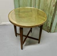 Brass Top Coffee Table or Occasional Table (5 of 5)