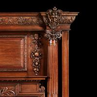 Grand Antique 19th Century Carved Walnut Fire Surround Provenance Castle Levan Manor (4 of 6)