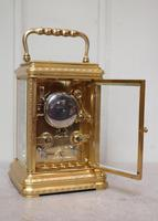 Bell Striking and Repeating and Alarm Gorge Case Carriage Clock (10 of 11)