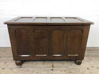 Vintage Oak Panel Blanket Box or Coffer Chest (15 of 15)