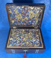 Victorian Rosewood Jewellery Box  With Inlay (12 of 15)