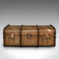 Large Antique Steamer Trunk, English, Cedar, Shipping Chest, Edwardian c.1910 (3 of 12)
