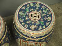 Pair of Chinese Qing Dynasty Painted Barrels / Seats (6 of 17)
