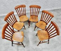 19th Century Matching Set of 6 Windsor Kitchen Chairs (6 of 6)