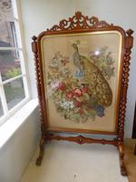 Large 19th Century Needlepoint Fire Screen (10 of 10)