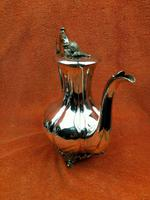 Antique Pumpkin Shaped Silver Plated Coffee Water Tea Pot c.1830 (13 of 13)