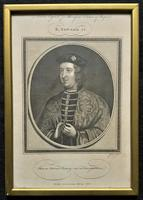 Rare Set of 12 Original 18th Century Engraving's of Kings & Queens of England (3 of 18)