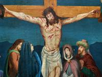Superb 19th Century Old Master Biblical Christ Oil Portrait Painting - Gothic Oak Frame (12 of 17)