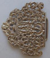 Victorian 1899 Maternity Hallmarked Solid Silver Nurses Belt Buckle (8 of 9)