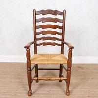 6 Oak Elm Rushwork Country Dining Chairs (6 of 10)