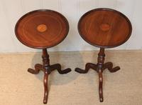 Pair of Inlaid Mahogany Wine Tables (4 of 10)