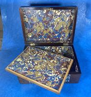 Victorian Rosewood Jewellery Box  With Inlay (13 of 15)