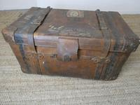 English Leather Steamer Trunk