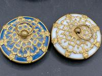 Palays Royale Pair of Boxes in Blue Opaline & Golden Brass Frame (5 of 5)