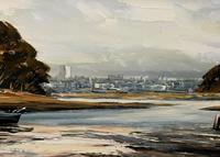 Edward Elliot (1850-1916) Superb Vintage Fishing Estuary Landscape Oil Painting (8 of 12)