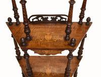 Victorian Whatnot Bookshelf Antique 1860 Furniture (5 of 13)