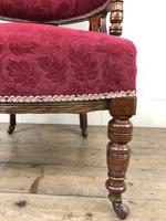 Pair of Victorian Mahogany Upholstered Tub Chairs (11 of 15)