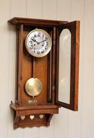 Oak Arts & Crafts Striking Wall Clock (5 of 7)